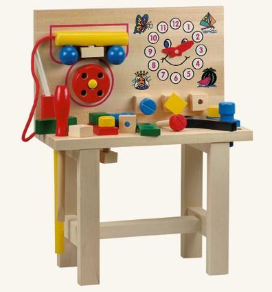 Bino Dřevěné hračky - Hračky pro kluky -Pracovní ponk s telefonem