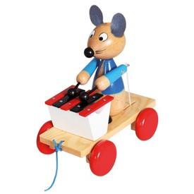 Bino Tahací myš s xylofonem