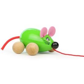 Vilac Tahací myška Lisa zelená