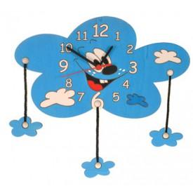 Dětské dřevěné hodiny - Mrak s mráčky