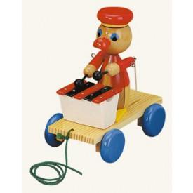 Dřevěné hračky - Tahací kačer s xylofonem