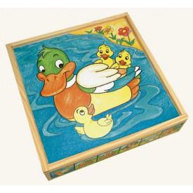 Dřevěné hračky - Obrázkové kostky - Zvířátka,25 k