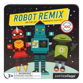 Petitcollage Magnetická knížka Roboti