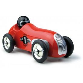 Dřevěná hračka Vilac - Dřevěné historické závodní auto oblé