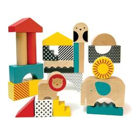 Petitcollage Dřevěné kostky zvířátka