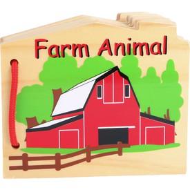 Small Foot Dřevěná knížka - zvířátka na farmě