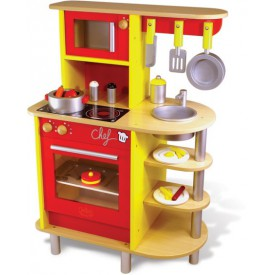 Dřevěné hračky Vilac - Kuchyňka včetně nádobí a potravin