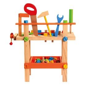 Bino Dětský pracovní stůl s nářadím