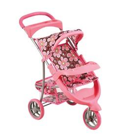 Bino Sportovní kočárek pro panenky růžový