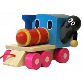 Dřevěný vláček - Krtek a mašinka