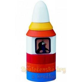 Motorická hračka - Pyramida Krtek v raketě