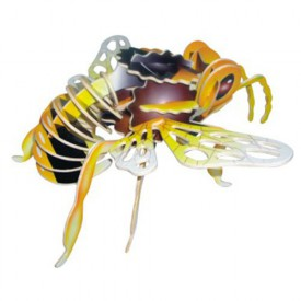 Dřevěné 3D puzzle dřevěná skládačka hmyz - Čmelák EC011