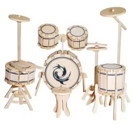 Dřevěné skládačky 3D puzzle nábytek a ostatní - Bubny GPM006