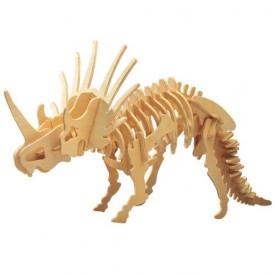 Dřevěné 3D puzzle skládačka dinosauři - Styracosaurus J006