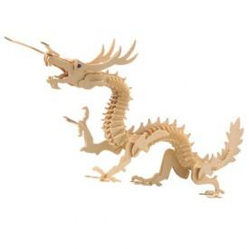 Dřevěné 3D puzzle dřevěná skládačka zvířata - Drak M005