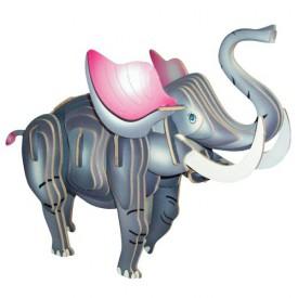 Dřevěné 3D puzzle dřevěná skládačka zvířata - Slon MC016
