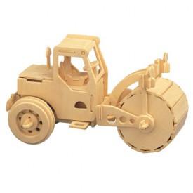 Dřevěné 3D puzzle dřevěná skládačka auta - Válec P027