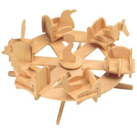 Devěné skládačky 3D puzzle nábytek a ostatní - Kolotoč P032