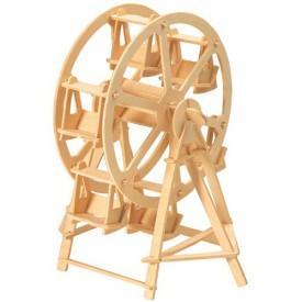 Dřevěné skládačky 3D puzzle - Kolotoč Ruské kolo P033