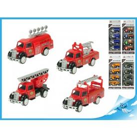 Nákladní auta 4ks modely 1:55 stavební stroje