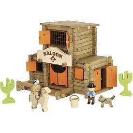 Jeujura Dřevěná stavebnice 170 dílků salón