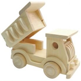Dřevěné hračky - Přírodní dřevěné auto - Nákladní auto