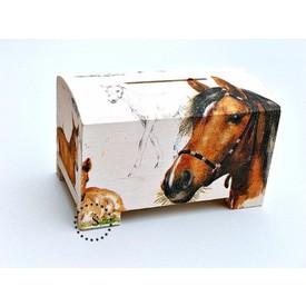 CEEDA CAVITY Dřevěná pokladnička pro děti Koně