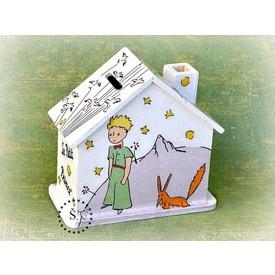 CEEDA CAVITY Dřevěná pokladnička pro děti Malý Princ