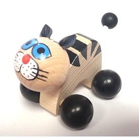 CEEDA CAVITY Kočka na kolečkách černé tlapky