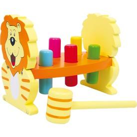 Dřevěná zatloukačka Lev