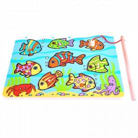 Bigjigs dřevěná hra - Chytání rybiček na desce