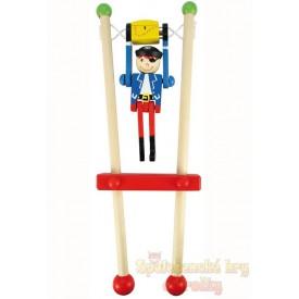 Dětská dřevěná hra - Pirát na hrazdě