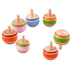 Bigjigs Toys Dřevěná káča Spinning 1ks