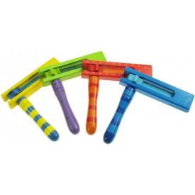 Bigjigs Dětské hudební nástroje - Barevná řehtačka