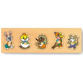 Dřevěné hračky - Vkládací puzzle - Vkládačka - Zvířata lesní