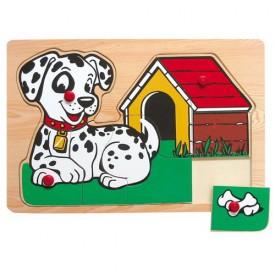 Dřevěné hračky - Vkládací puzzle - Vkládačka - Pejsek