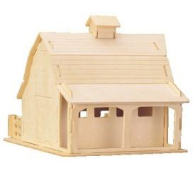 Dřevěné skládačky 3D puzzle slavné budovy - Stodola P070