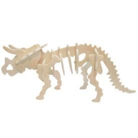 Dřevěné 3D puzzle skládačka - dinosauři Triceratops
