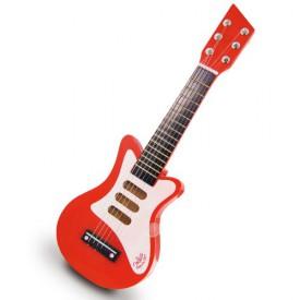 Dětské hudební nástroje - Červená rock n roll kytara