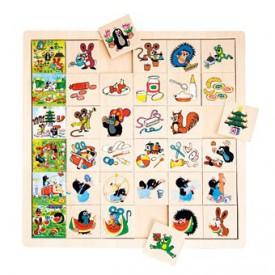 Dřevěné hračky -  Co kam patří - Krtek