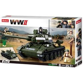 Sluban WWII M38-B0689 Sovětský tank T-34/85 2v1