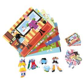 Small Foot Magnetické puzzle v kufříku Girl
