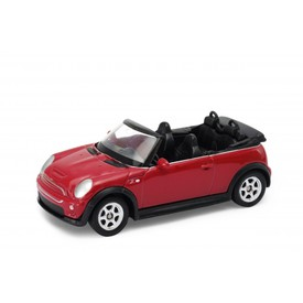 Welly Mini Cooper S cabrio model 1:24 červený