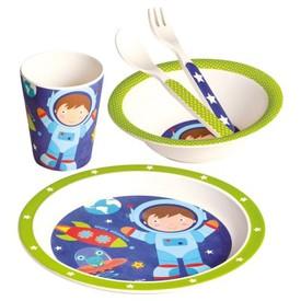 Bino Bambusové nádobí 5dílný sert Astronaut