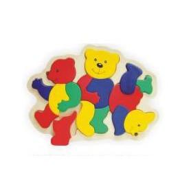 Dřevěné hračky - Vkládací puzzle - Vkládačka - Medvídci