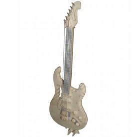 Dřevěné skládačky 3D puzzle - Elektrická kytara GPM002