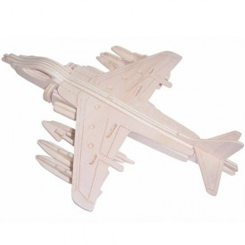 Dřevěné skládačky 3D puzzle letadla - Letadlo P137