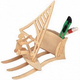 Dřevěné skládačky - Stojánek na tužky Surfing S015