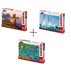 Dino výhodný balíček 3 kusů Puzzle celkem 3000dílků