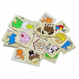 Dřevěné hračky - dřevěné hry - Pexeso zvířátka